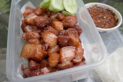 Fried pork with sweet sauce