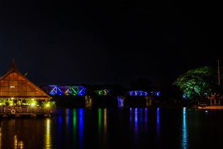 View of the Bridge on the River Kwai from the restaurant.
