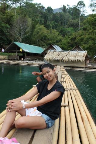 Bamboo raft trip.