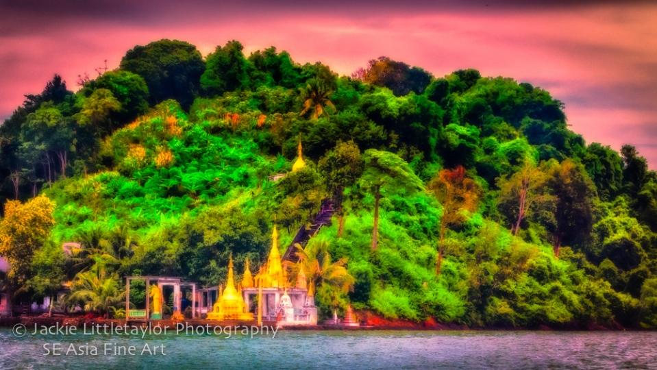 Buddhist Shrine Burma Malacca Straights 16x9 Impression