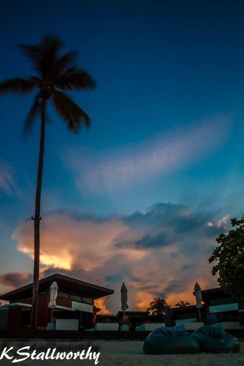 Sunset over Aava Resort