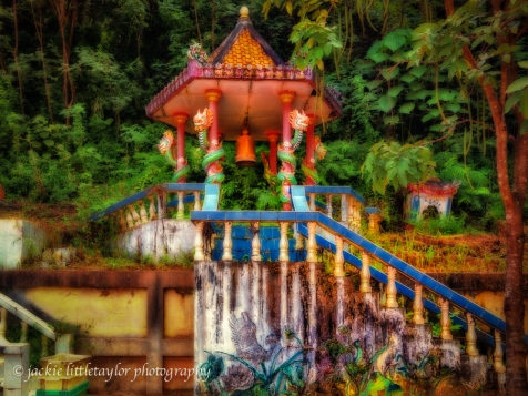 one of many small shrines Wat Siray Phuket Thailand