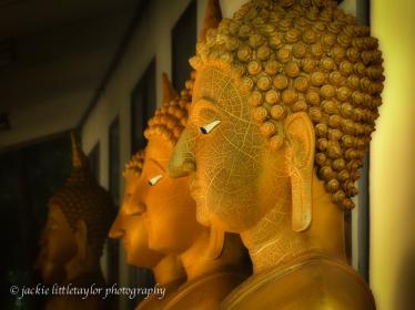 Buddha heads Wat Siray Phuket Thailand