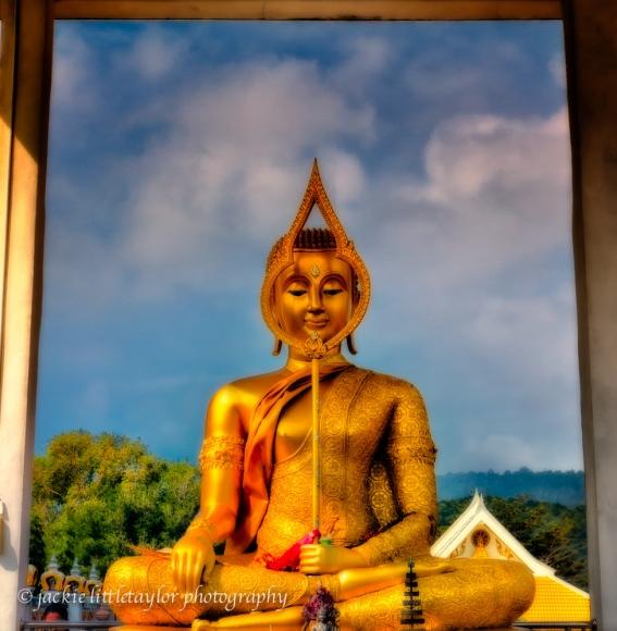 Buddha Staue Wat Sapum Thammaram Phuket Thailand