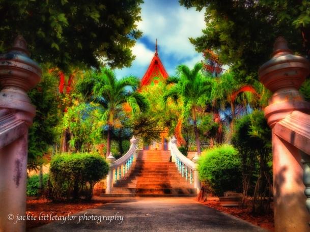 Garden steps to Wat Sapum Thammaram Phuket