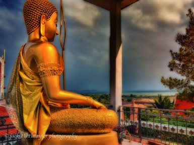 Buddha looking out to sea Wat Sapum Thammaram impression