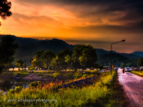 Bang Wad Dam sunset Kathu Phuket Thailand