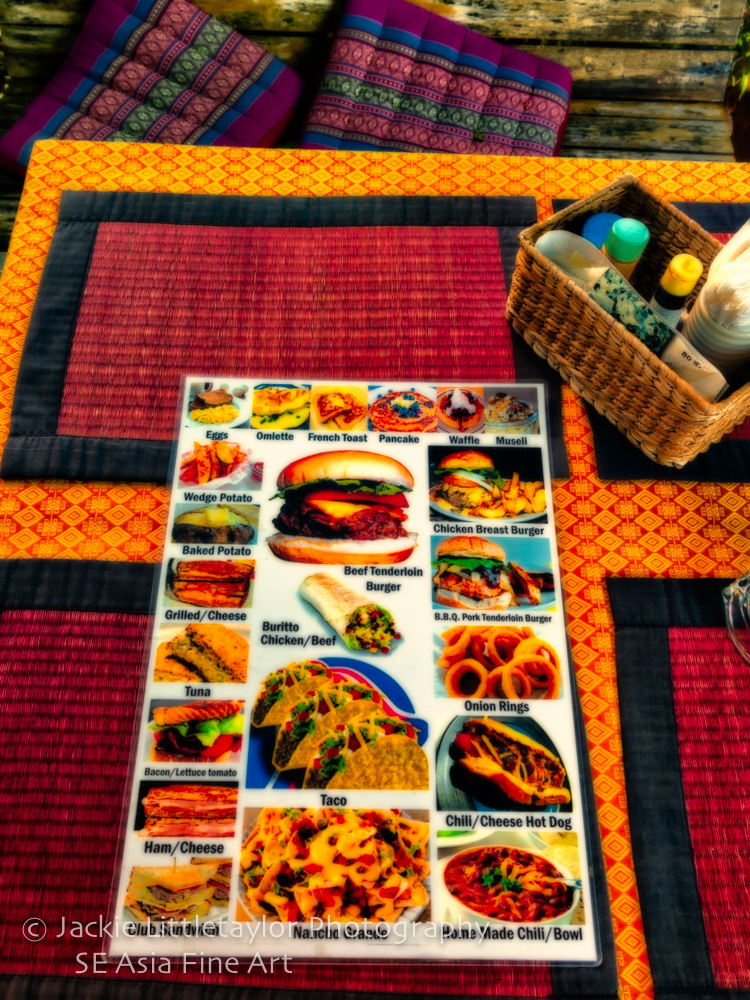 Boomer American cafe and bar menu  Kamala Thailand