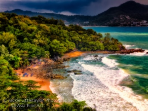 Laem Sing Beach from View point after storm