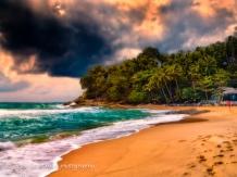 evening sunset Surin Beach impression