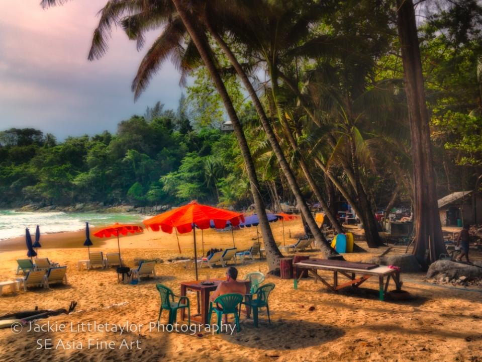 enjoy sunset laem Sing Beach