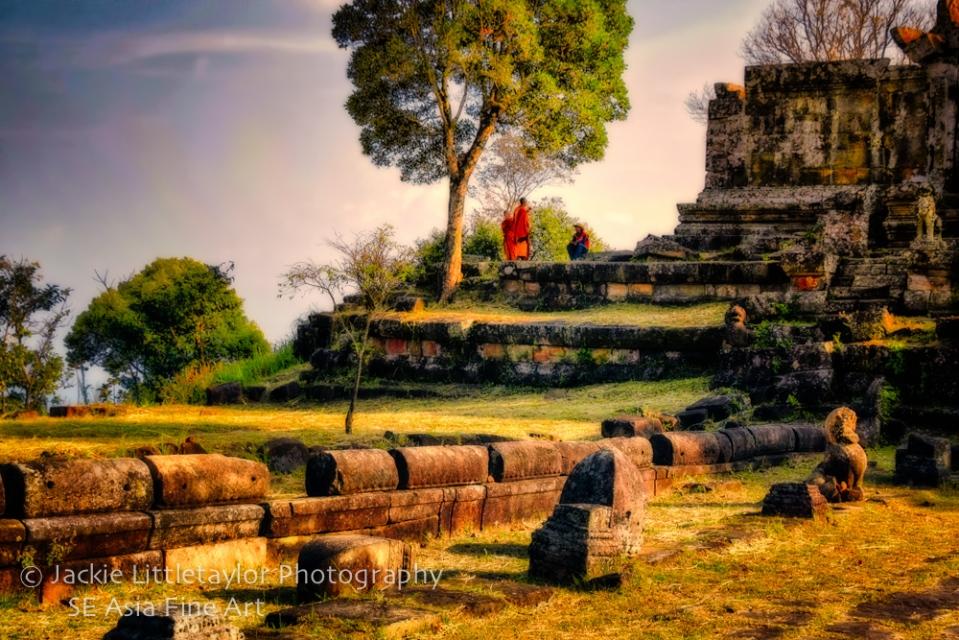 World Heritage Site Preah Vihear Cambodia 12  Buddhist monk unde