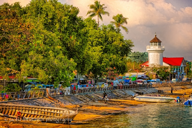 Chalong Waterfront evening boats tourist lighthouse impression
