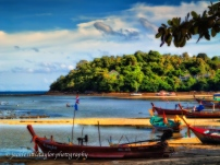 Rawai Beach Long tail boats