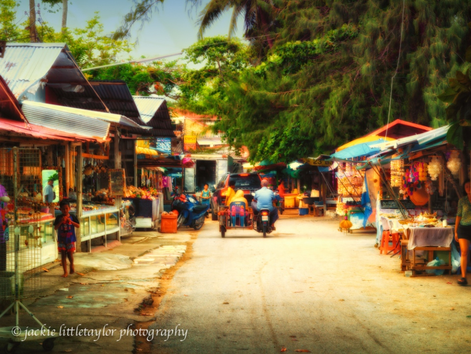 Thai market Rawai fishing village  impression