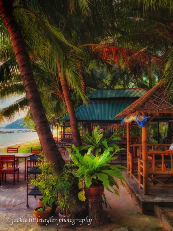 cafe along on Gypsy Beach Siray Island Phuket
