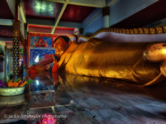 reclining Buddha Wat Siray Thailand