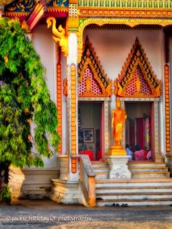 worship Wat Ladthiwanaram Phuket Thailand
