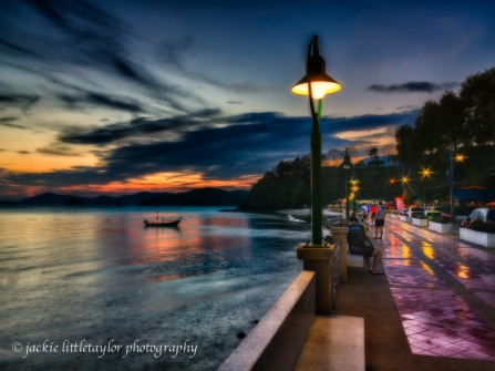 Cape Panwa Sunset walk in the evening Thailand