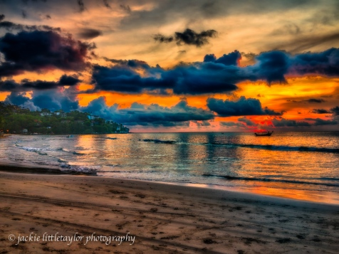 sun has set Kamala Beach Phuket Thailand