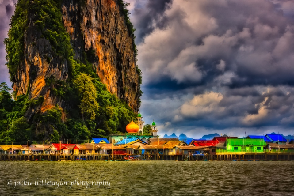 Koy Panyee Fishing Village Impression dark clouds
