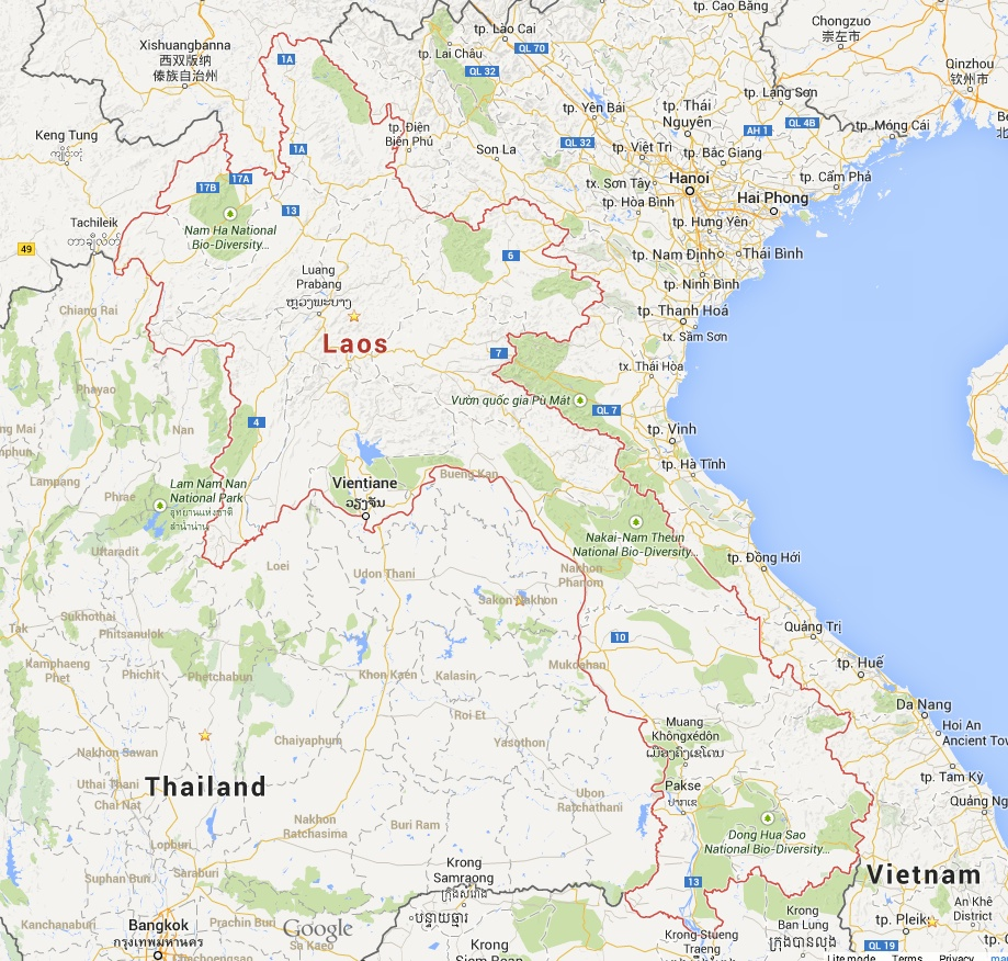Google Map Request: Visa And Currency ATM's Information Laos