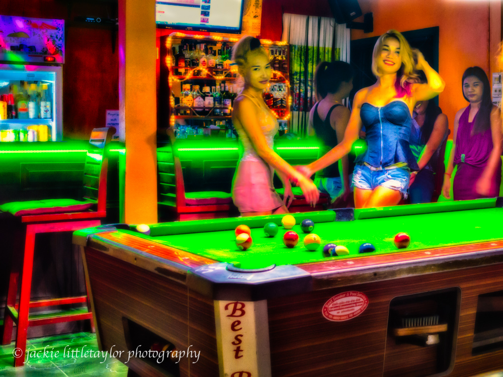 Crazy Bar pool table and girls Kamala Thailand LIFE SE ASIA MAGAZINE