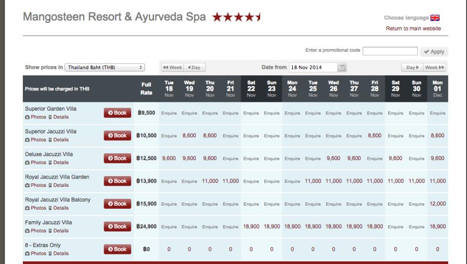 price list Nov 2014