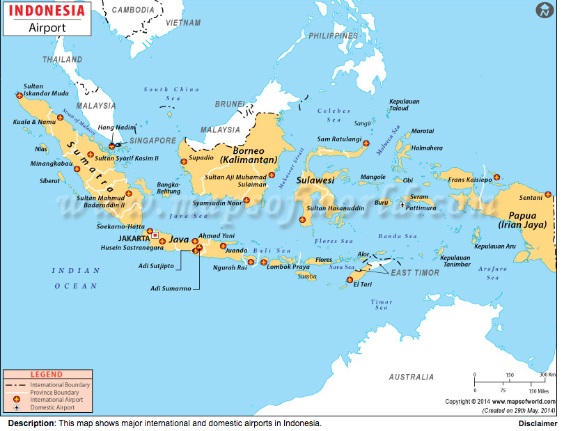 map airports Indonesia