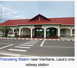 Laos only train station