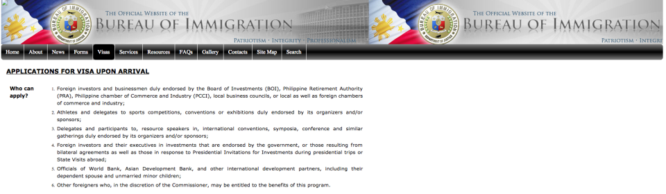 Dept Immigration Philippines