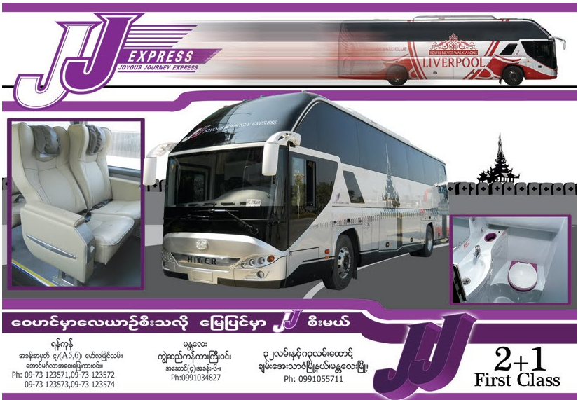 JJ Express Bus Myanmar