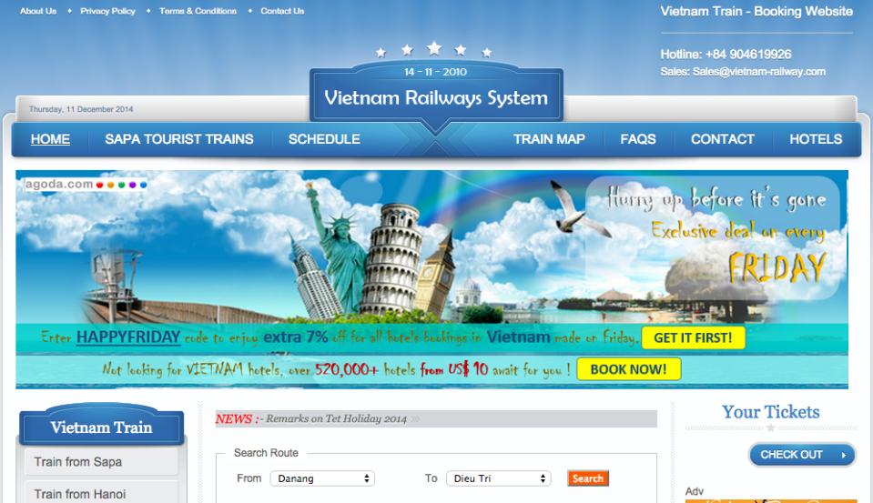 Vietnam Train page