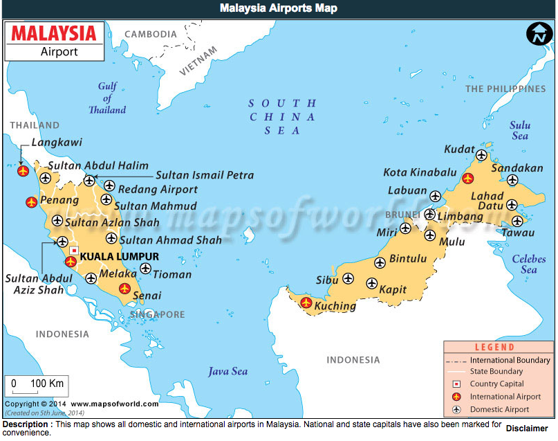 Airports malaysia life se asia magazine map airports malaysia sciox Image collections