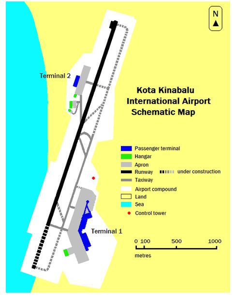terminal map Kota kinabalu Airport