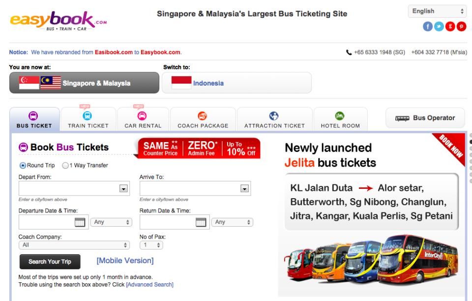easybook Bus Malaysia