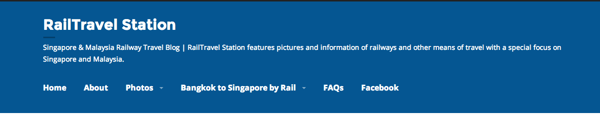 Singapore & Malaysia Railway Travel Blog | RailTravel Station features pictures and information of railways and other means of travel with a special focus on Singapore and Malaysia.