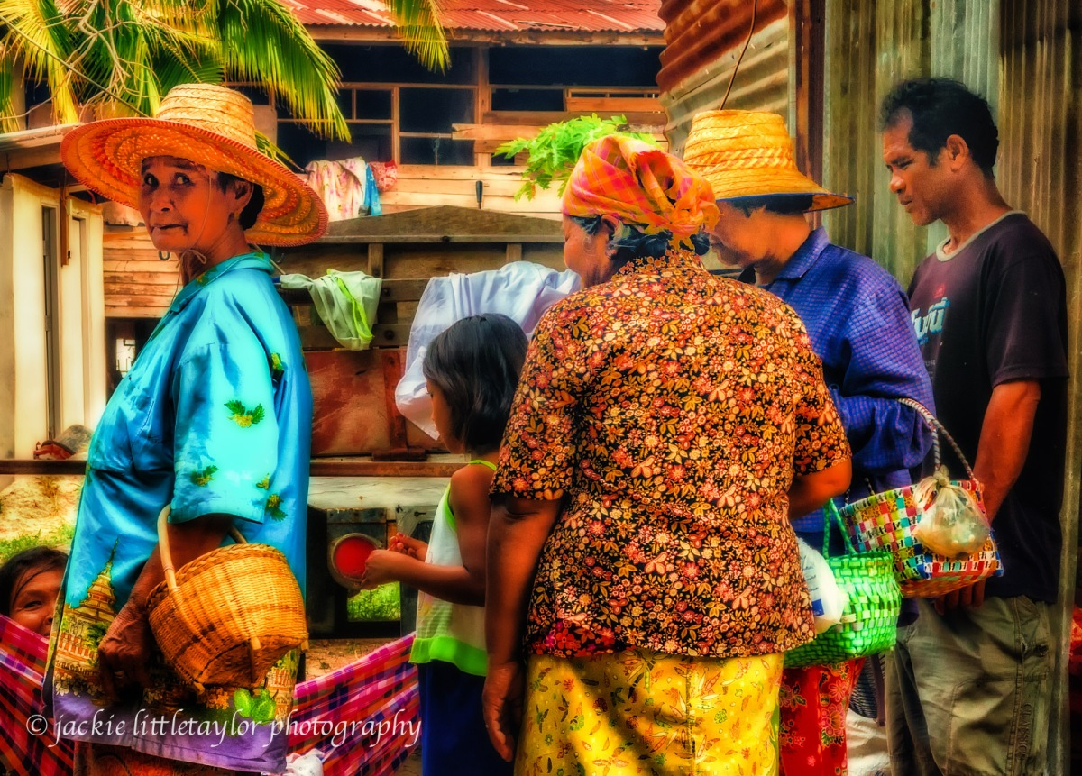 Faces of Issan Village Life Thailand  by jackie