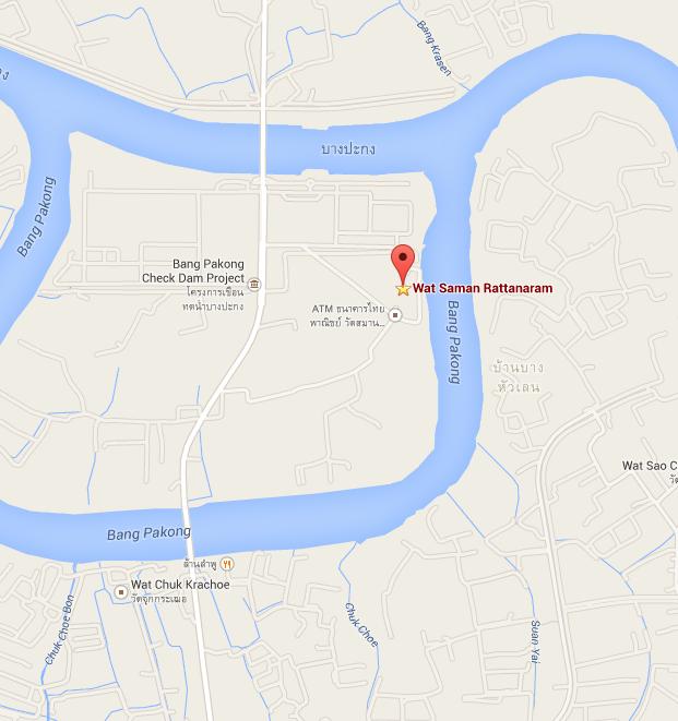 Map Wat Saman Rattanaram