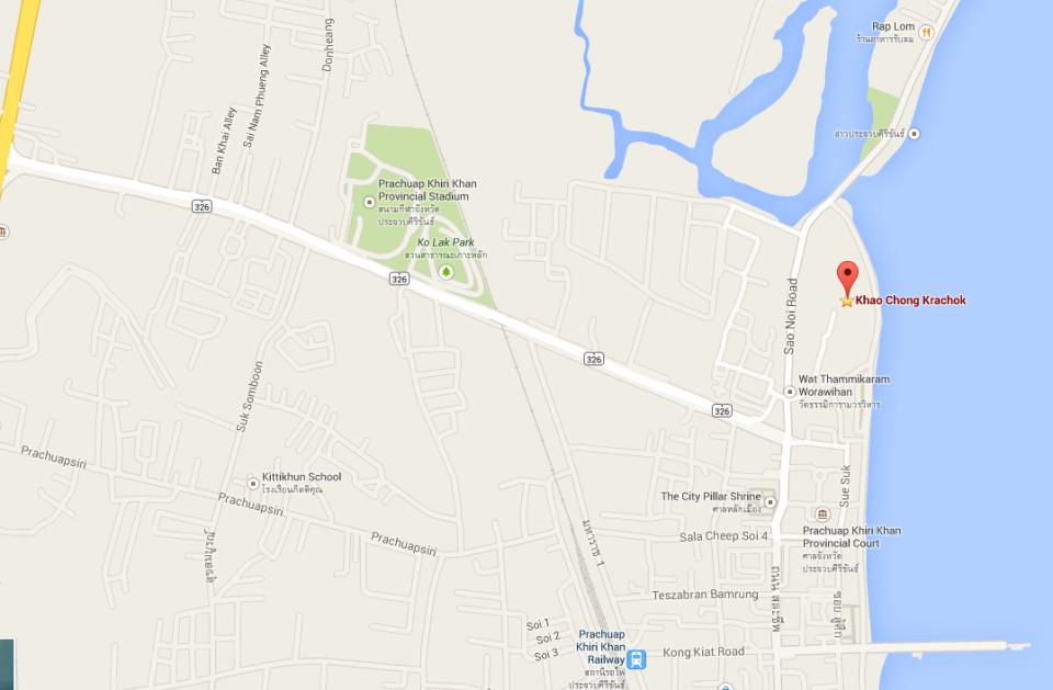 Map Wat Khao Chong Krachok