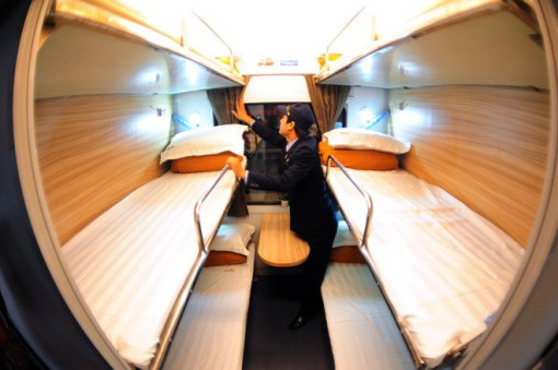 six-berth sleeper cabin