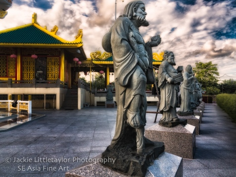 Statues Kiew Tien Keng Shrine Phuket