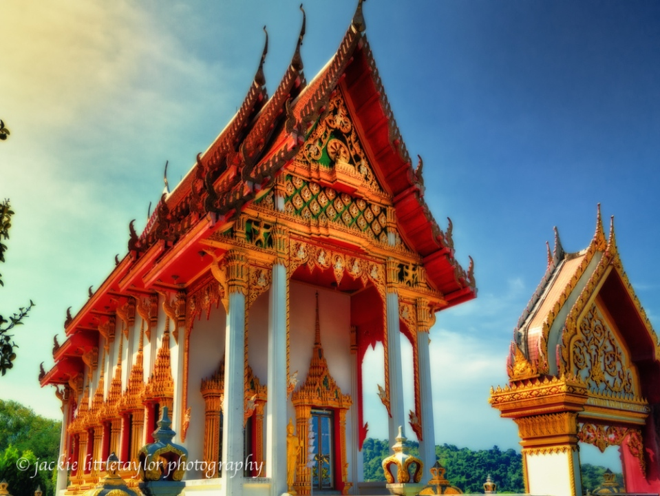Wat Sapum Thammaram  sunset impression