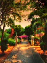 small garden area behind Wat Sapum Thammaran impression