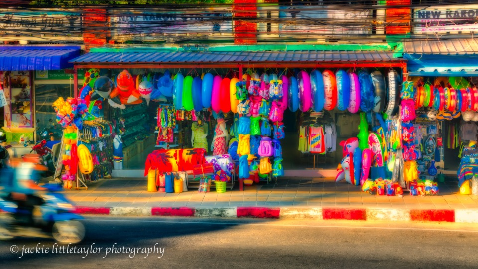 shop of color  Karon Beach Phuket Thailand 16x9