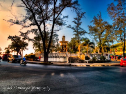 Karon Traffic Circle sunset