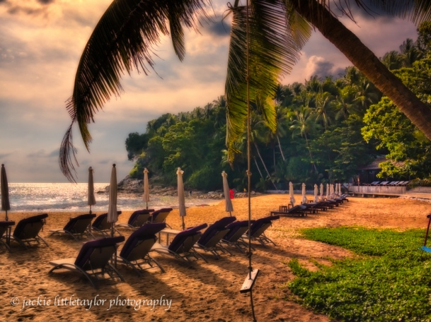 swing on the beach sunset Surin Phuket