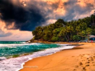 evening sunset Surin Beach impression