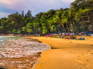 Lovely quite Laem Sing Beach Phuket Thailand