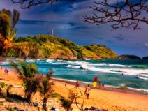 Nai Harn Beach no chairs sunset